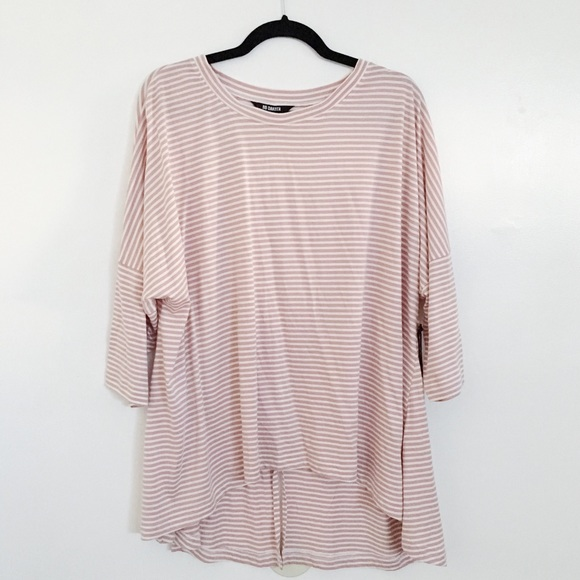 Tops - blush striped tee